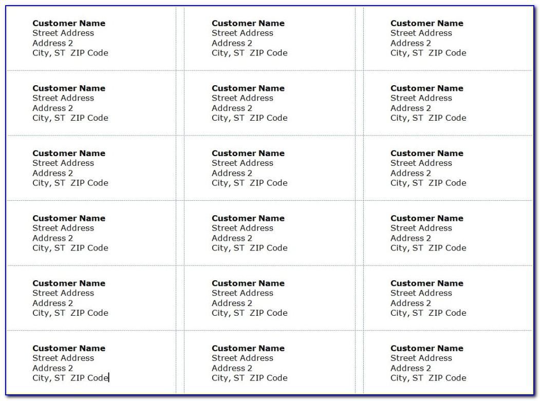 Avery Inkjet Labels J8160 Template