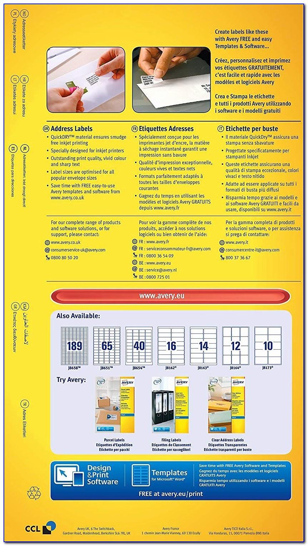 Avery Inkjet Labels J8161 Template
