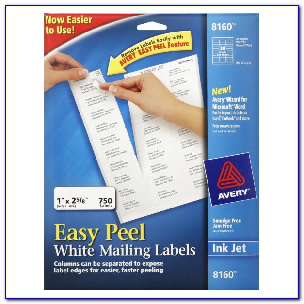 Avery Inkjet Labels Template 8160