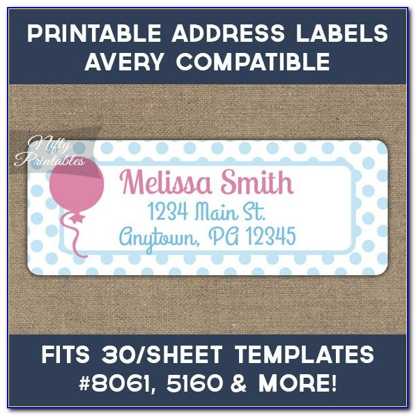Avery Label Template 5160 Free Download