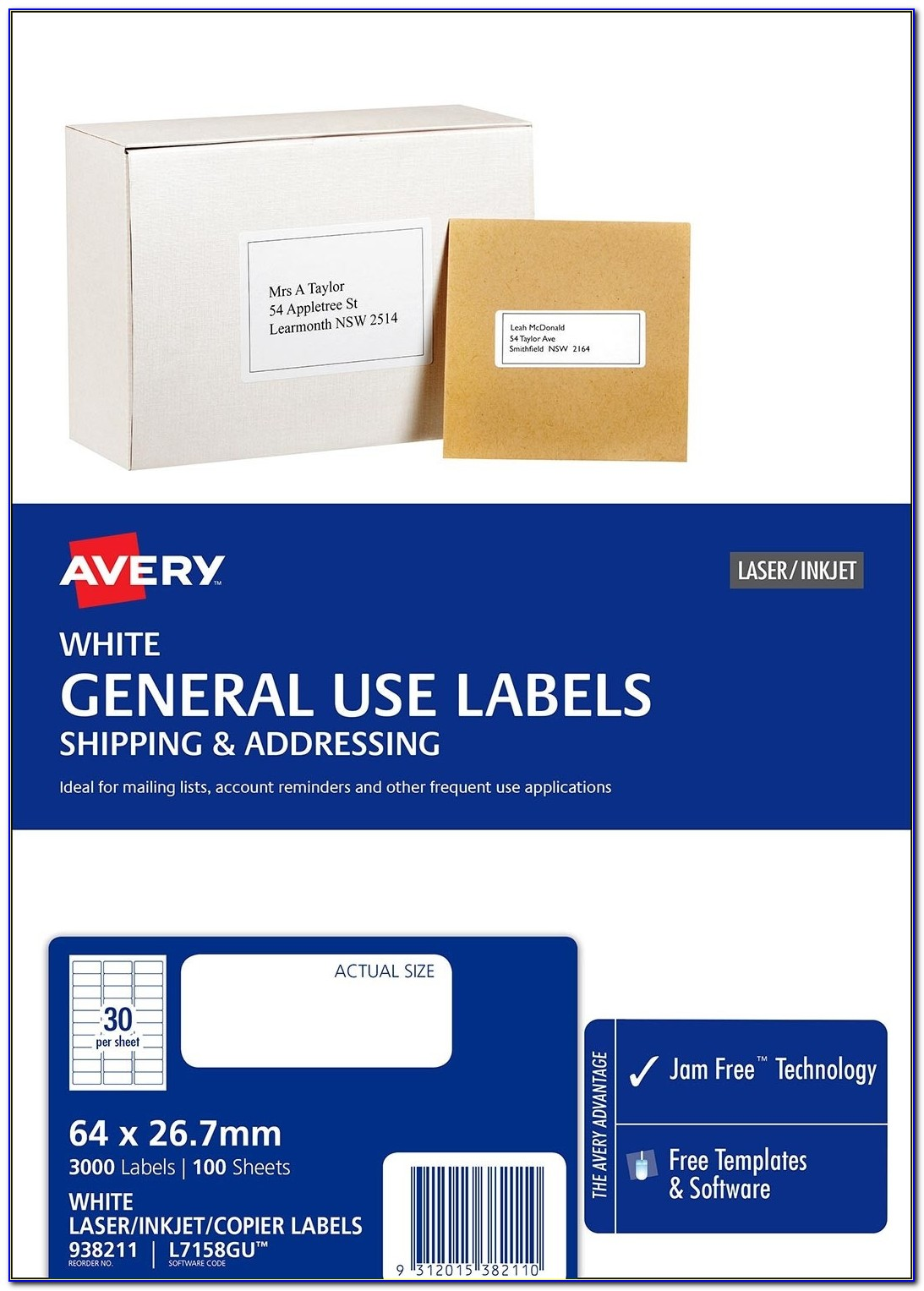 Avery Label Template 5160 Free