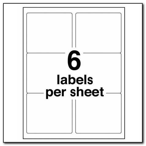 Avery Laser Labels 5164 Template