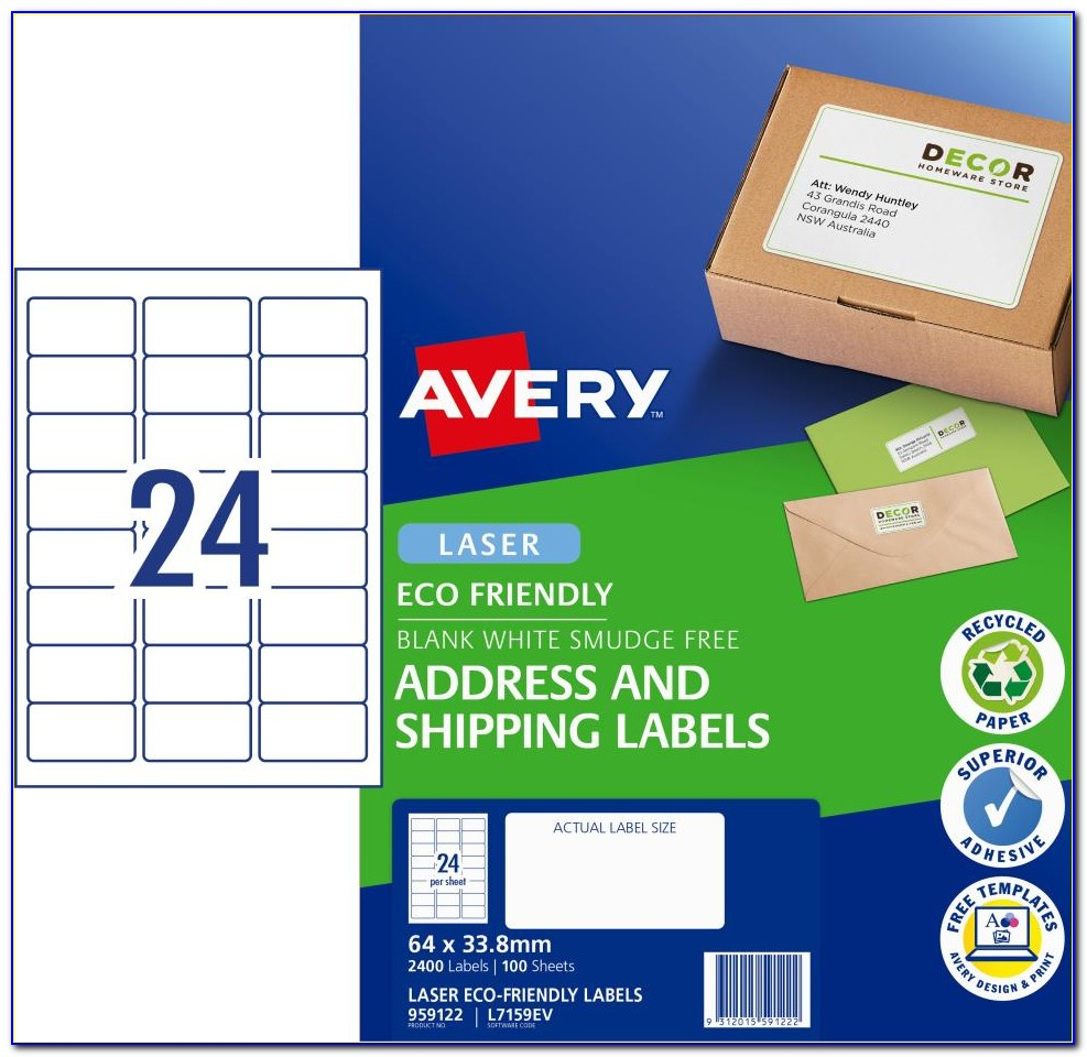Avery Laser Labels White #5160 Template