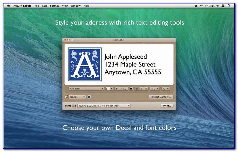 Avery White Return Address Labels 8167 Template