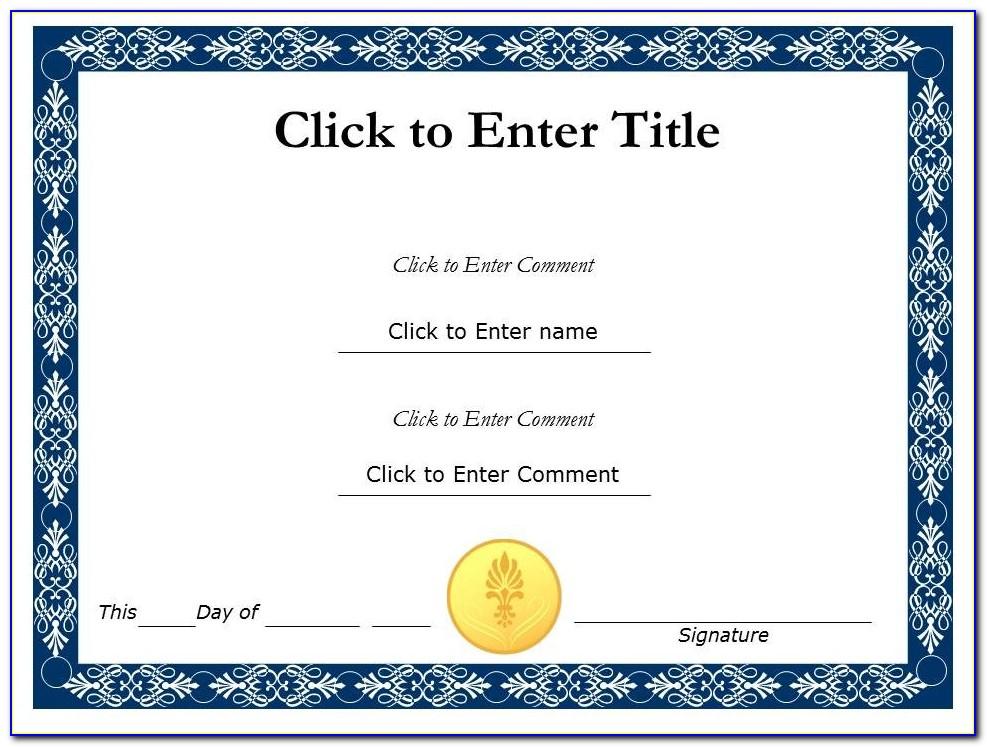 Award Certificate Template Powerpoint 2007