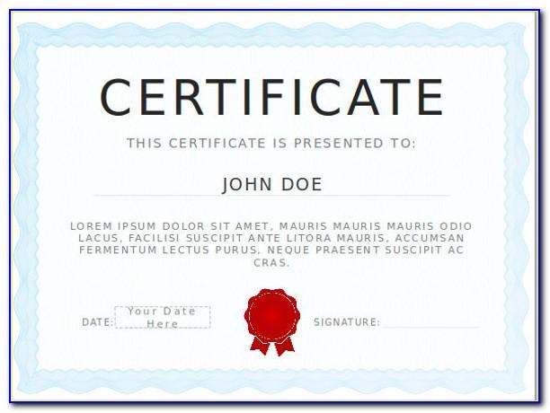 Award Certificate Template Powerpoint Free
