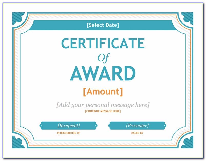 Award Certificates Templates Download
