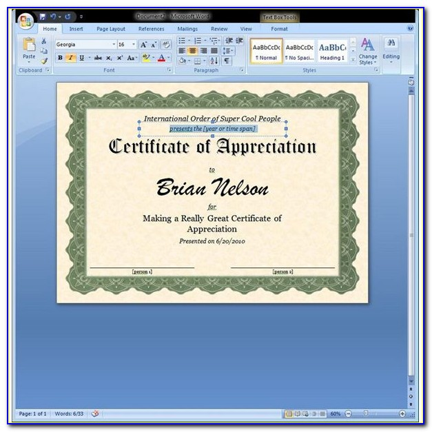 Award Certificates Templates Free Download