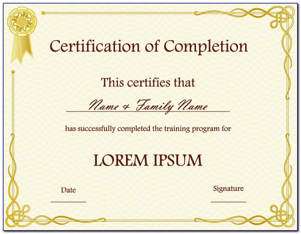 Awards Certificate Template Word