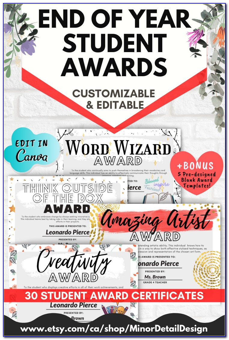 Awards Certificate Templates Download