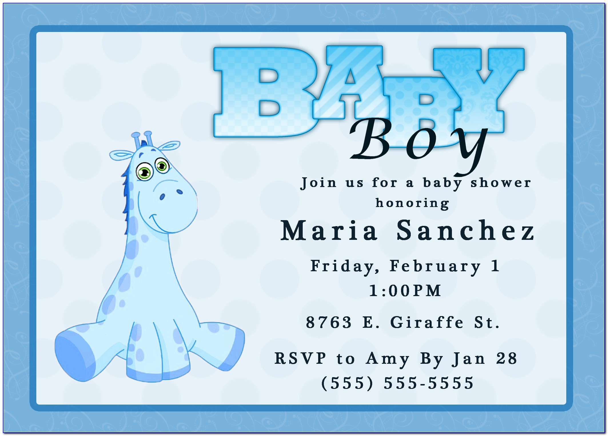 Baby Girl Birth Announcement Template Free