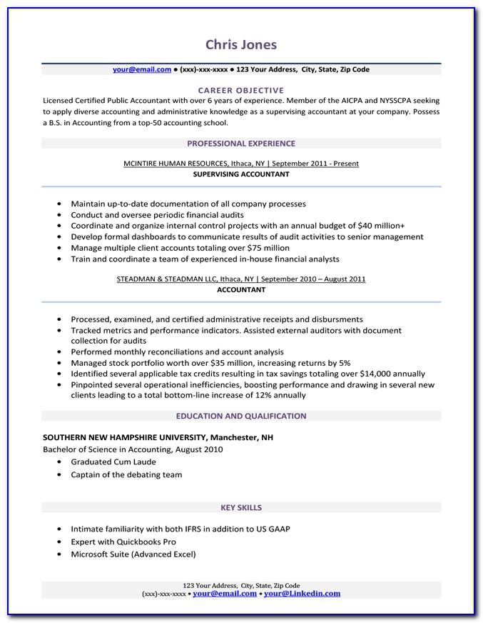 Basic Resume Template Printable