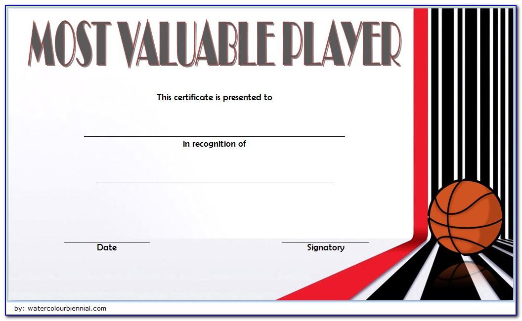 Basketball Award Certificate Printable