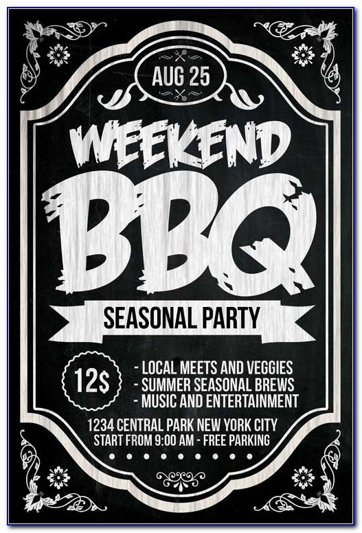 Bbq Flyer Template Word Free