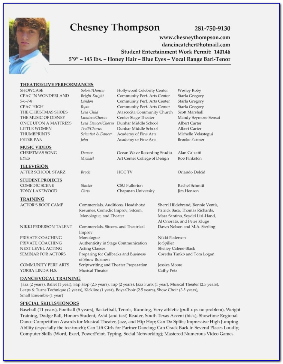 Beginner Personal Trainer Resume Example