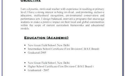 Best Education Resume Format