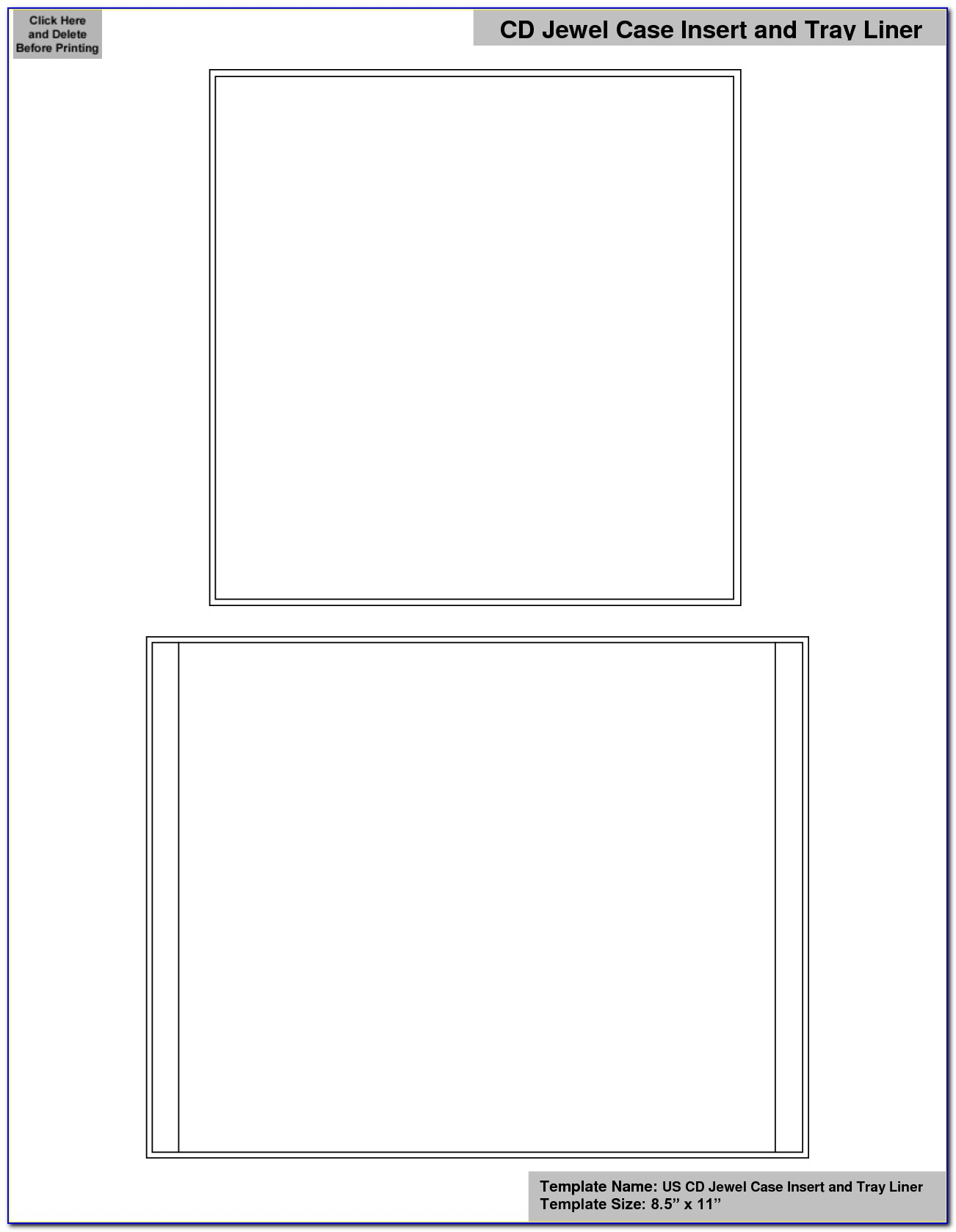 Blank Cd Cover Template Word 2007