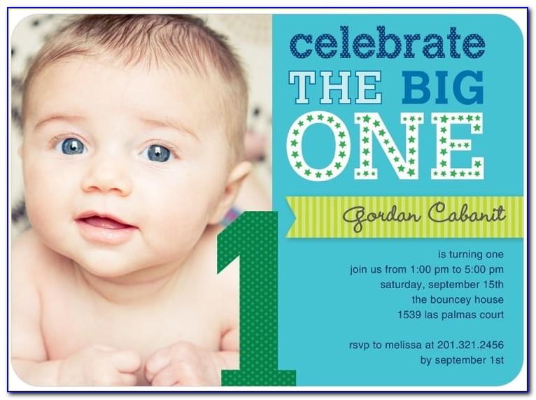 Boy First Birthday Invitation Templates