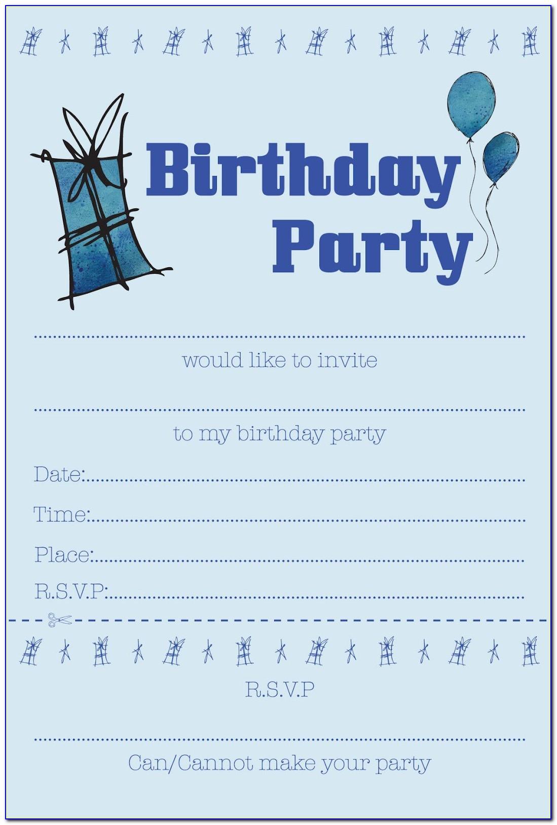 Boy Party Invitation Templates Free