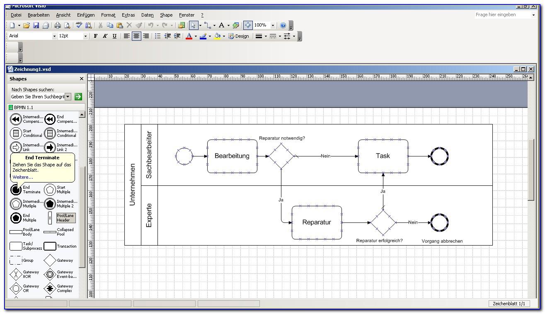Bpmn Diagram Template Visio 2010 Download