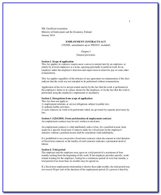 Breach Of Contract Employment Agreement