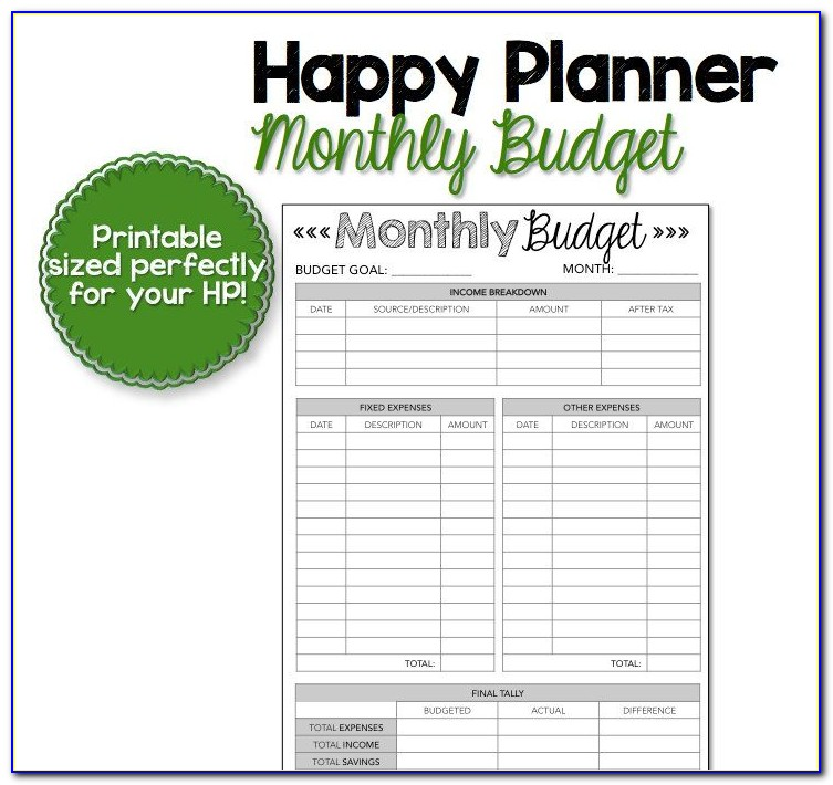 Budget Forms Templates Free