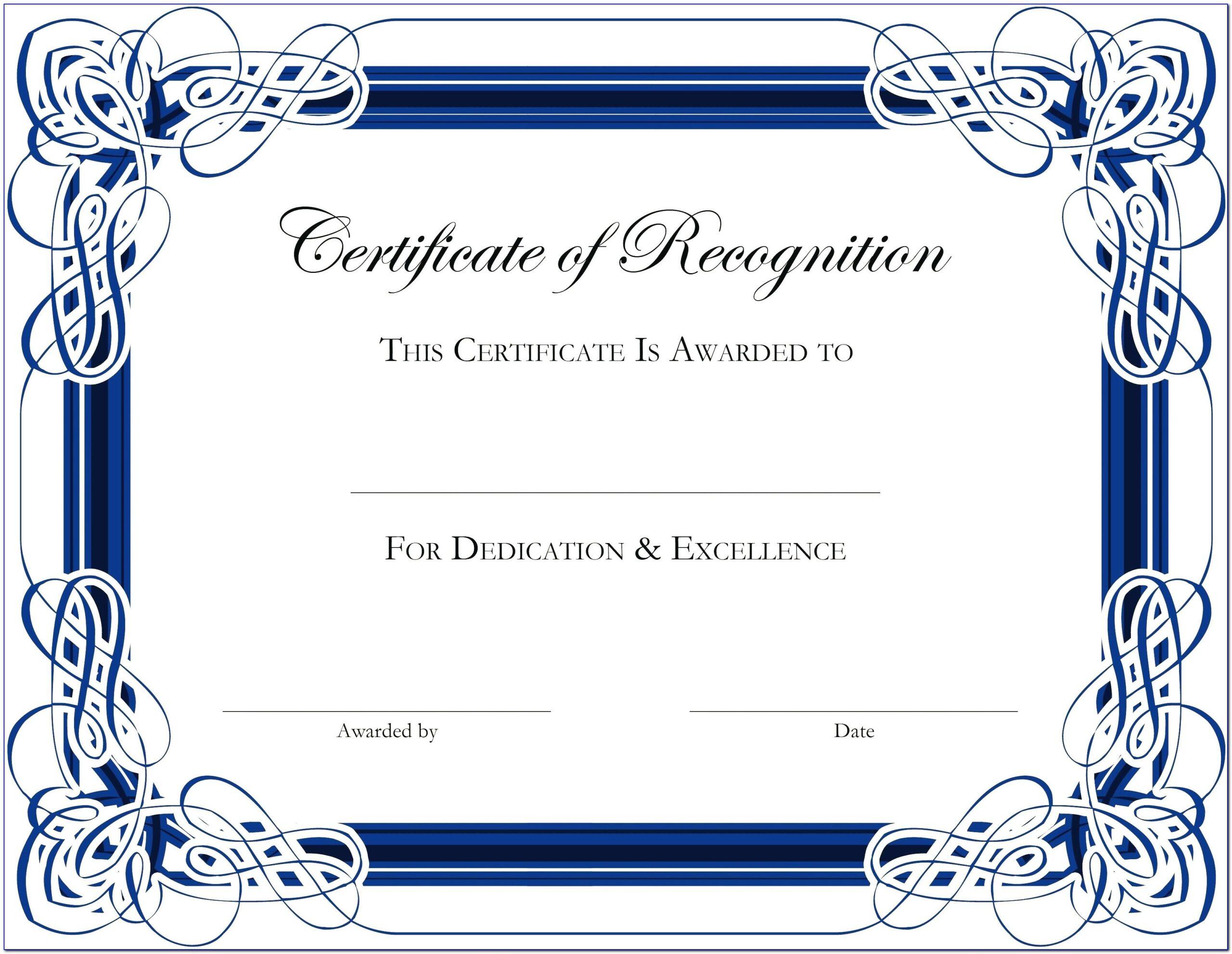 Downloadable Award Certificates Templates