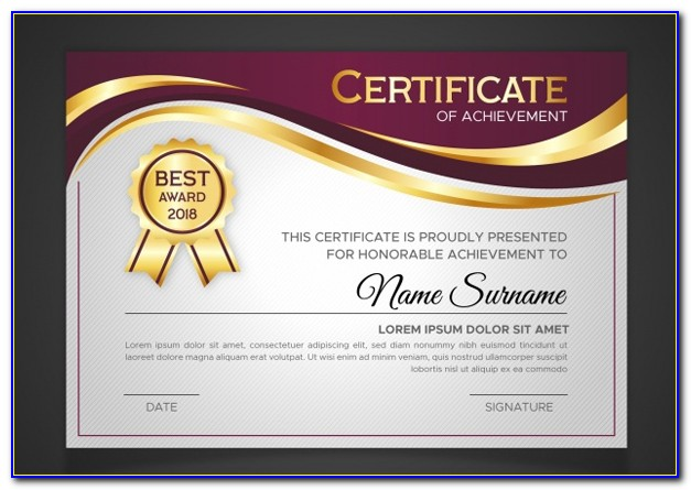 Free Awards Certificate Templates Downloads