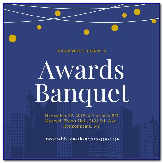 High School Awards Ceremony Program Template