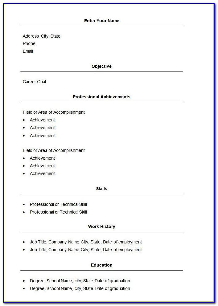 Job Resume Objective Examples