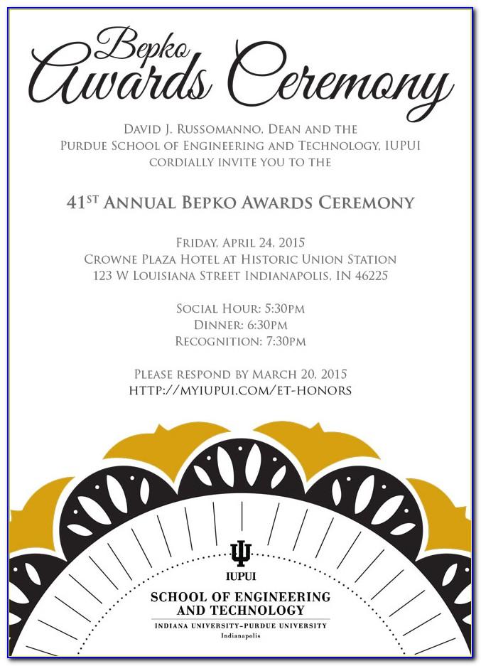 School Awards Ceremony Invitation Template