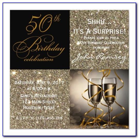 Zazzle 50th Birthday Invitations