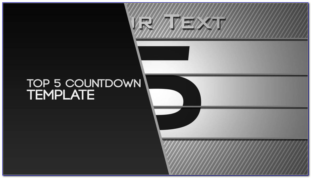 After Effects 5 Minute Countdown Template
