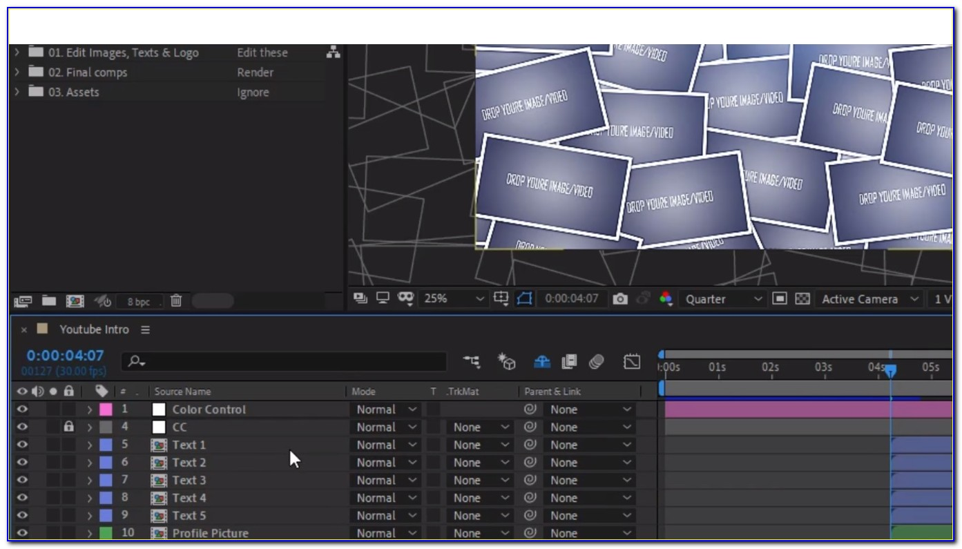 After Effects Templates Free Title