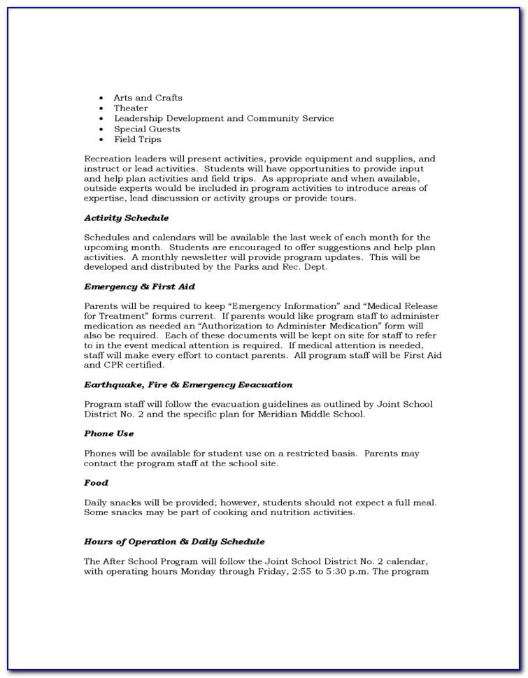 After School Program Grant Proposal Sample