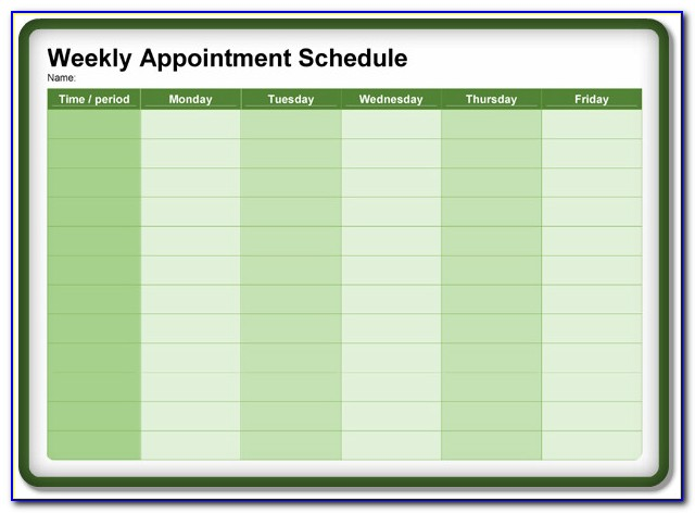 Appointment Scheduling Template Html