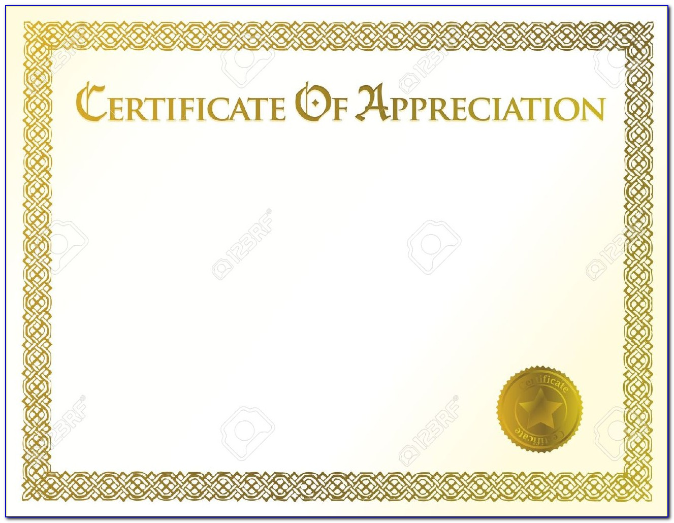 Appreciation Award Certificate Templates Free