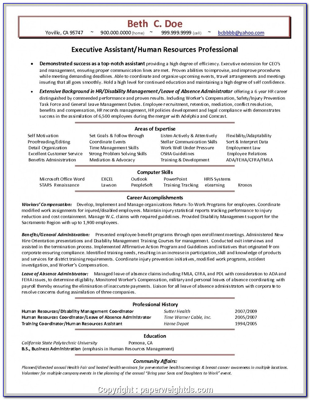 Assistant Sales Manager Resume Format