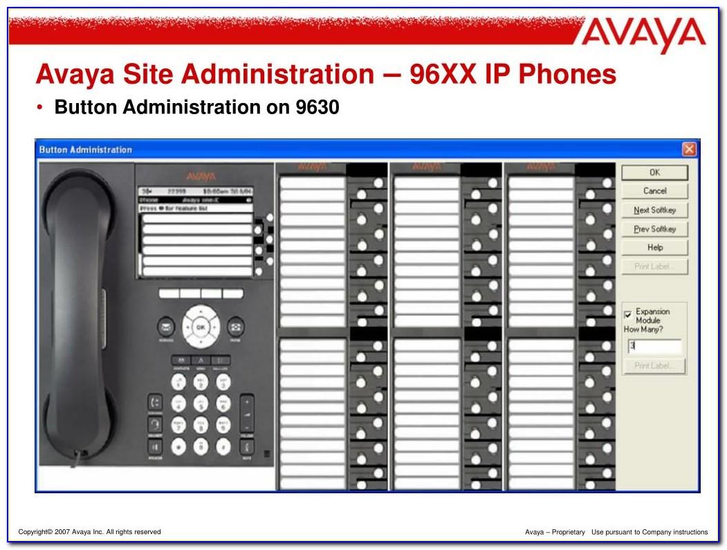 Avaya 8410d Phone Template
