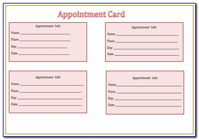 Doctor's Appointment Reminder Letter Template