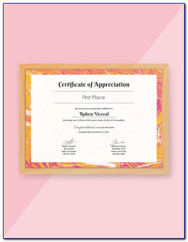Employee Award Certificate Templates Free