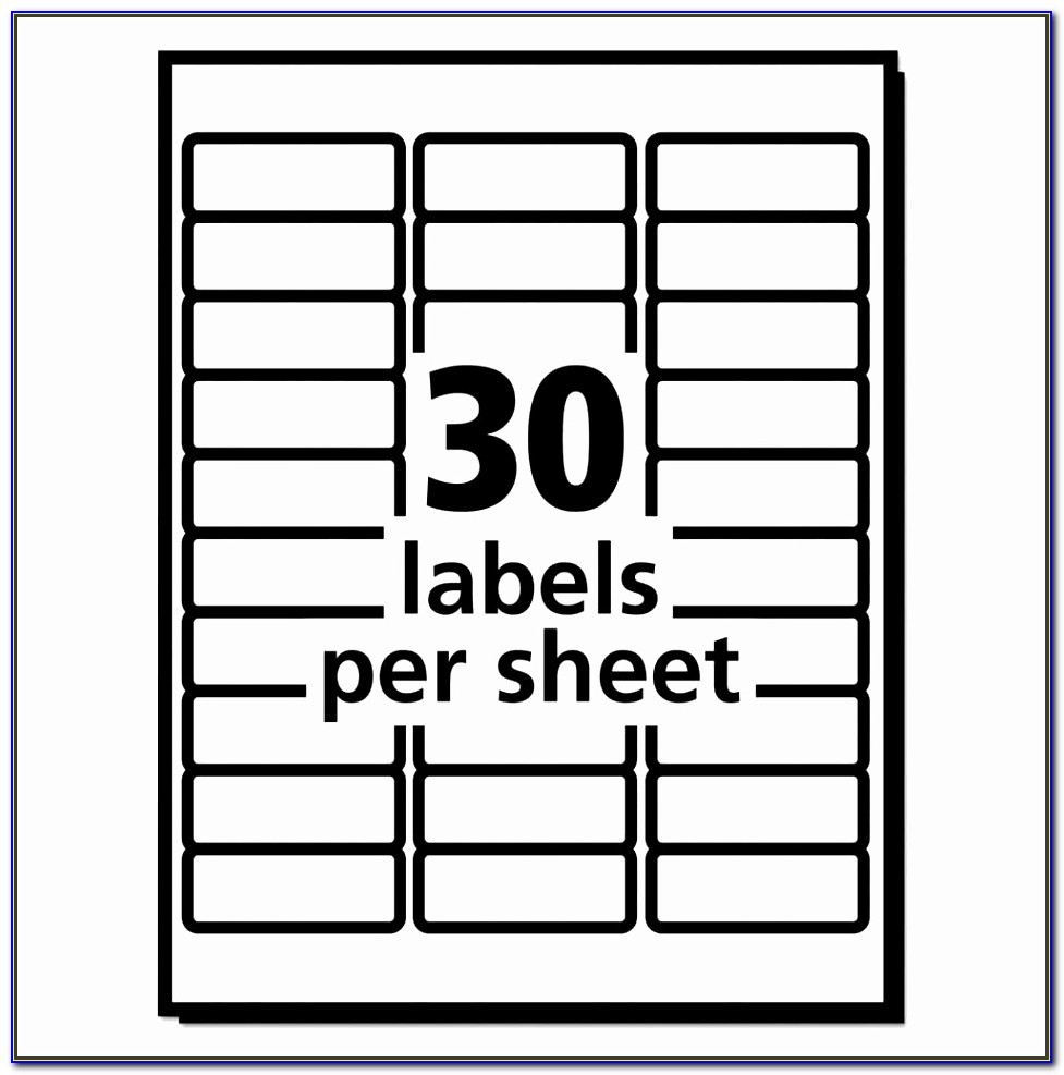 Quill Labels 30 Per Sheet Template