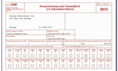 1096 Form 2011 Template