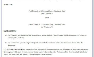 1099 Employee Agreement Template