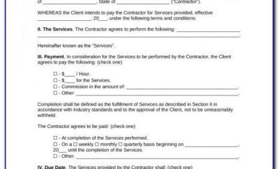 1099 Employee Contract Sample