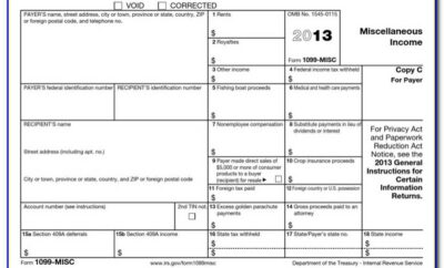 1099 Form 2017 Template