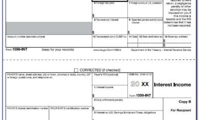 1099 Interest Form 2017 Template