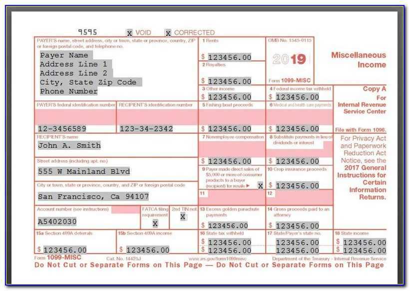 1099 Misc Form Template 2014