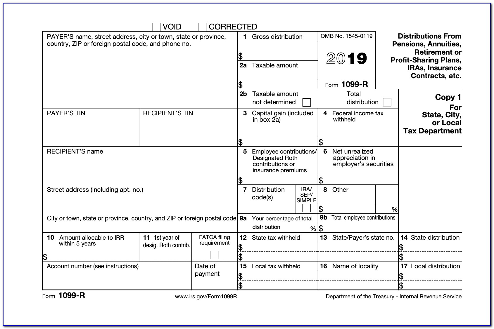 1099 Misc Tax Form Template