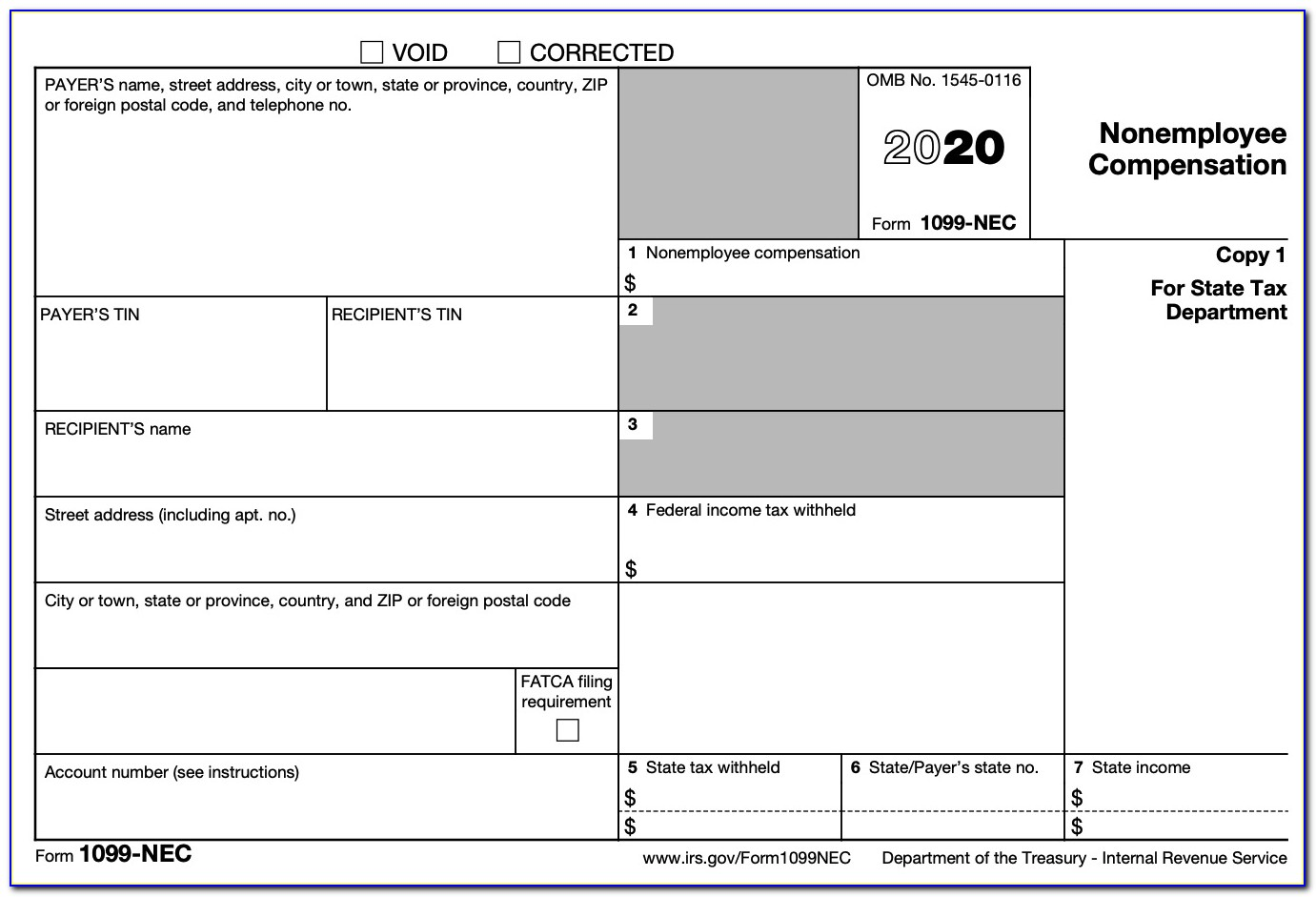 1099 Misc Template For Word 2018